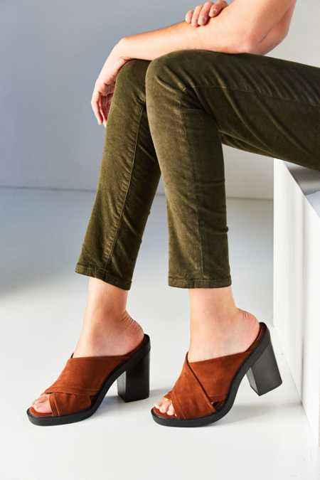Laura Suede Cross Strap Mule