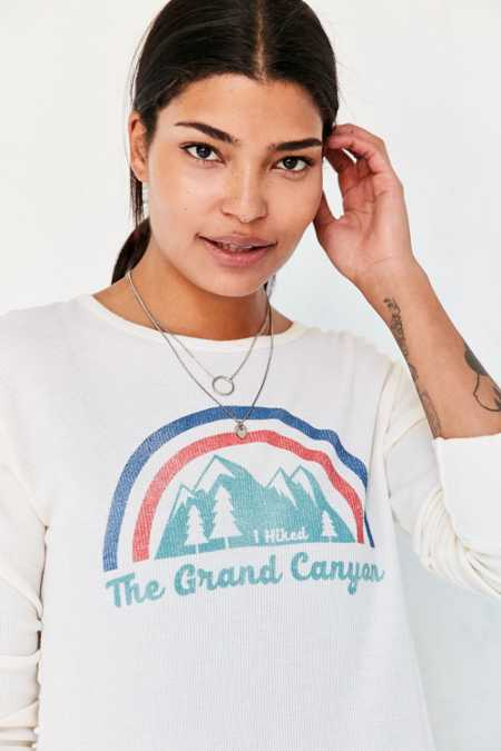 Truly Madly Deeply Grand Canyon Long-Sleeve Thermal Tee