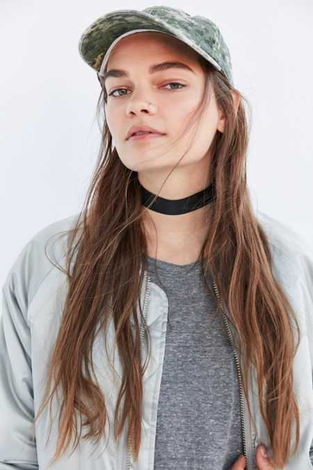 Wide Grosgrain Ribbon Choker Necklace