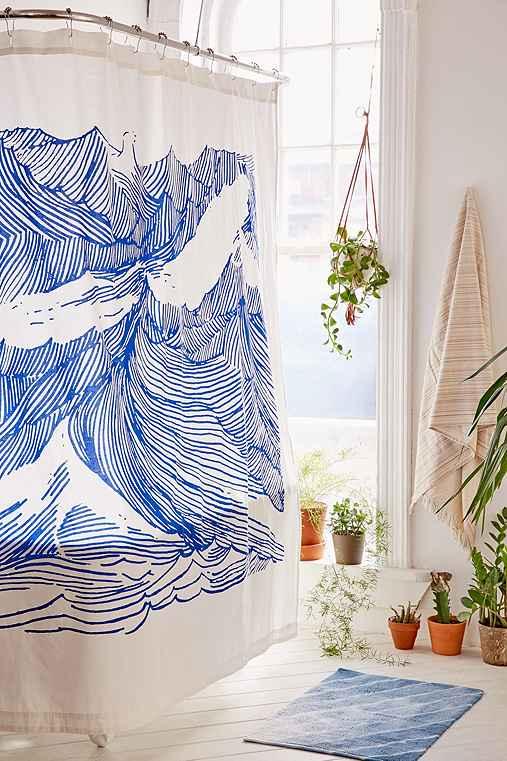 Kym Fulmer Crashing Waves Shower Curtain