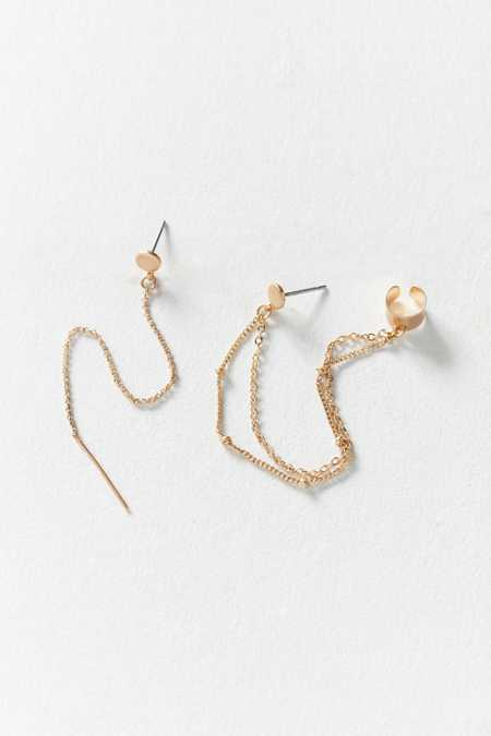 Delicate Threader + Ear Cuff Earring