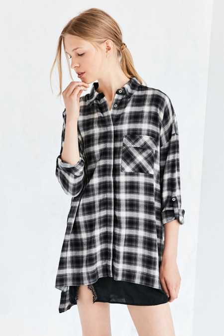BDG Shannen Plaid Button-Down Shirt
