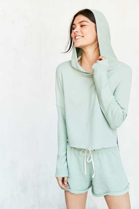 Out From Under Cropped Washed Hoodie Sweatshirt