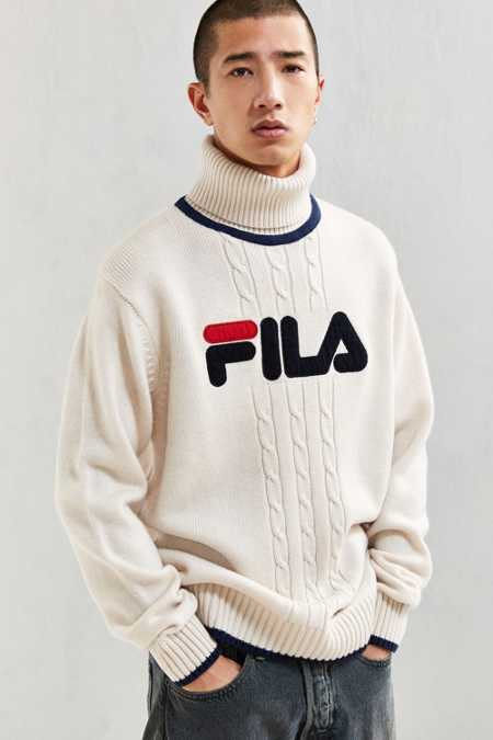 FILA + UO Chunky Roll Neck Sweater