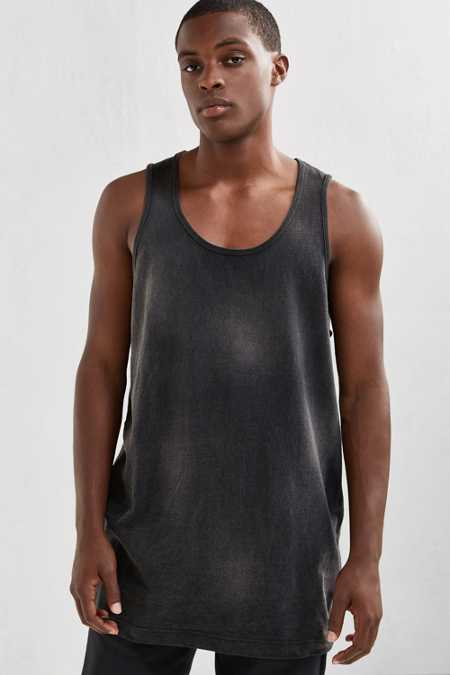 Feathers Long Washed Tank Top