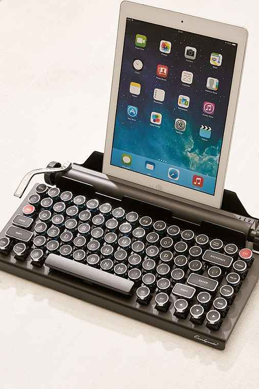 Qwerkywriter Wireless Typewriter Keyboard,BLACK,ONE SIZE