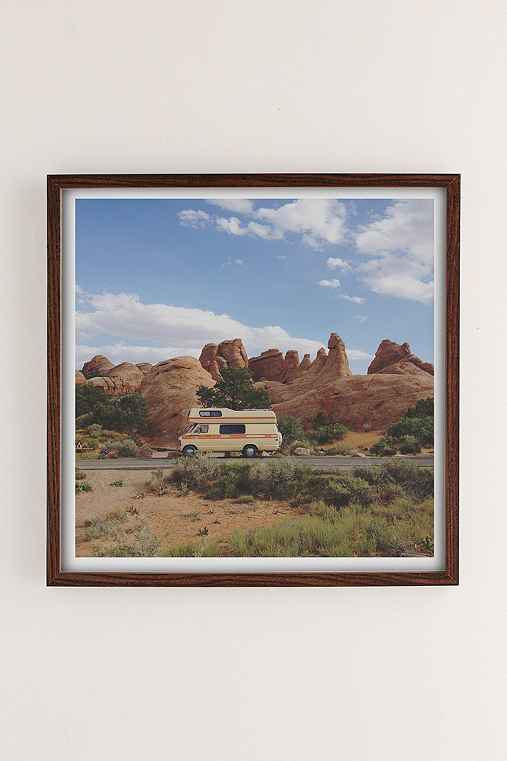 Kevin Russ Rock Camper Art Print,WALNUT WOOD,20X20