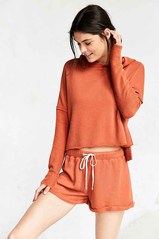 Out From Under Cuffed Sweat Short,RUST,S