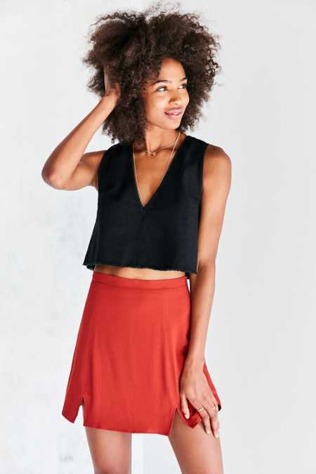 Cooperative Kendric Notch-Hem Mini Skirt