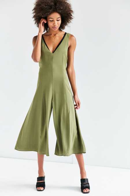 Silence + Noise Meredith Woven Culotte Jumpsuit