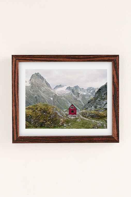 Kevin Russ Mint Hut Art Print,WALNUT WOOD,18X24