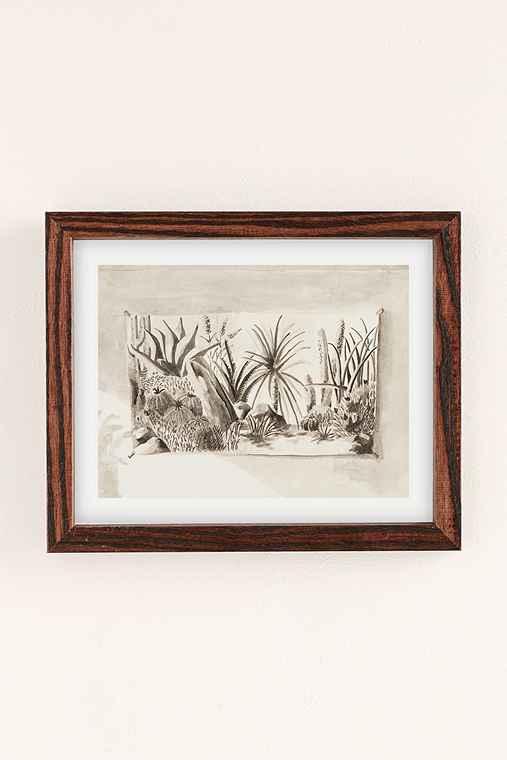 Lily Wong Succulent Garden Art Print,WALNUT WOOD,30X40