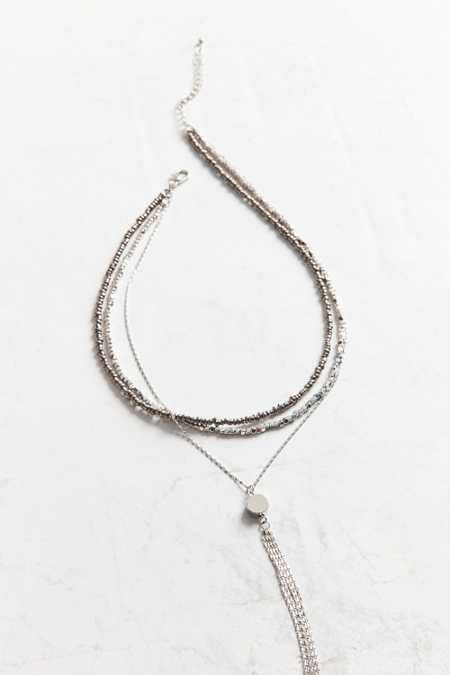 Naomi Beaded Lariat Necklace