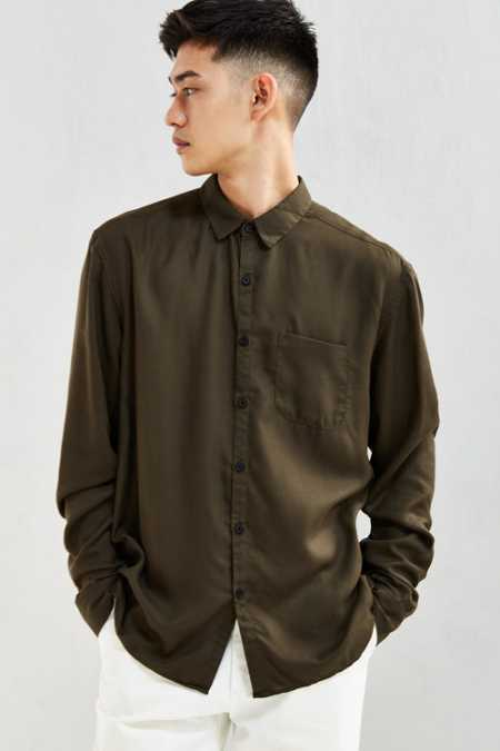 UO Rayon Button-Down Shirt