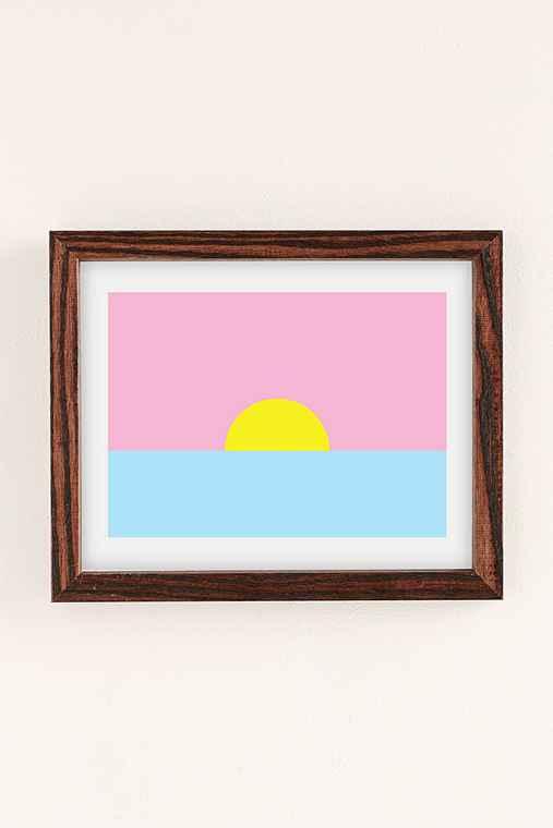 Ashkahn Sunsets Forever Art Print,WALNUT WOOD,18X24