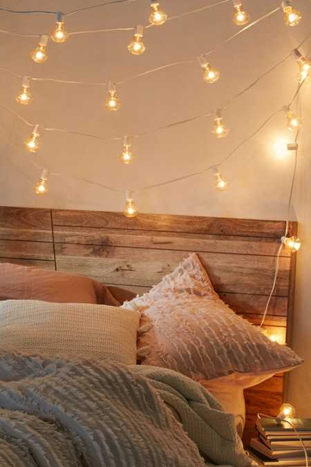 Faceted Bulb String Lights