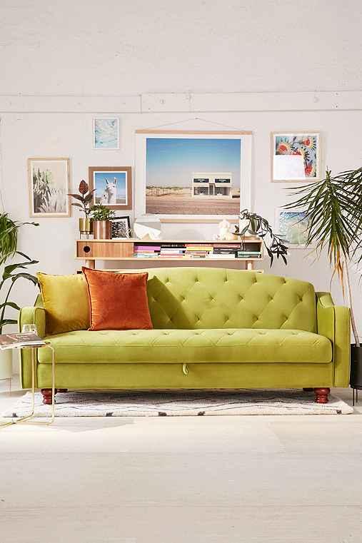 Adeline Storage Sleeper Sofa,OLIVE,ONE SIZE