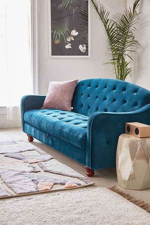 Adeline Storage Sleeper Sofa,TURQUOISE,ONE SIZE