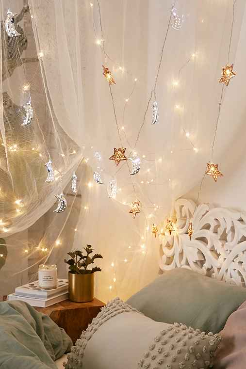Copper Star String Lights,COPPER,ONE SIZE