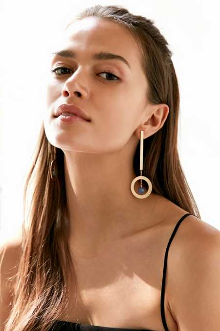 Saturn Dropped Sphere Drop Earring