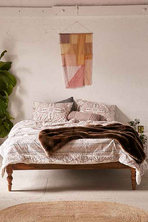 Halina Folk Floral Comforter,WHITE,FULL/QUEEN