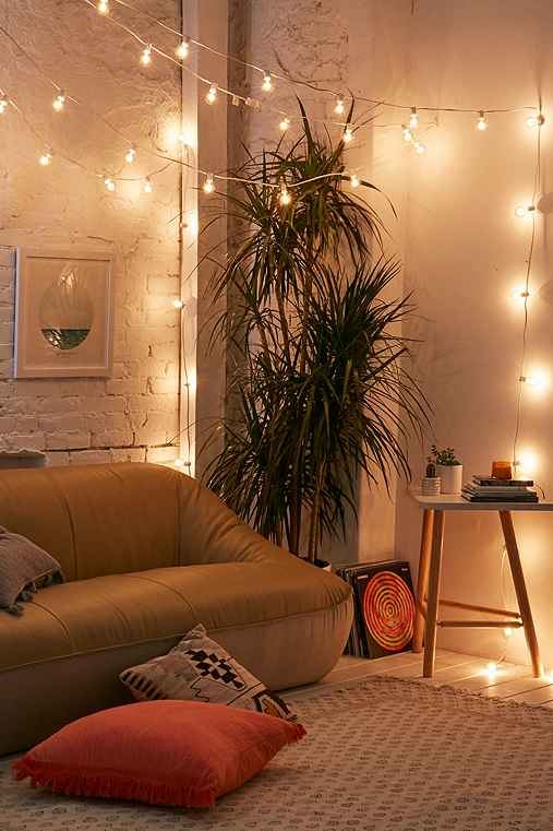 Lilac Tinted Globe String Lights,WHITE,ONE SIZE
