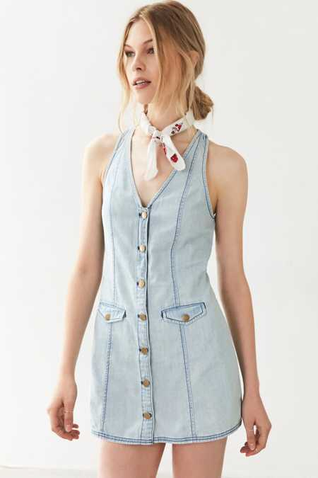 Cooperative Posie Chambray Button-Down Mini Dress