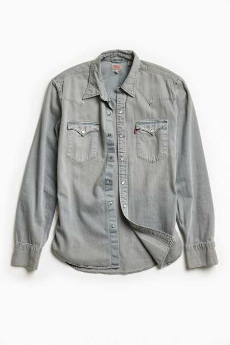 Levi's Grey Denim Western Shirt