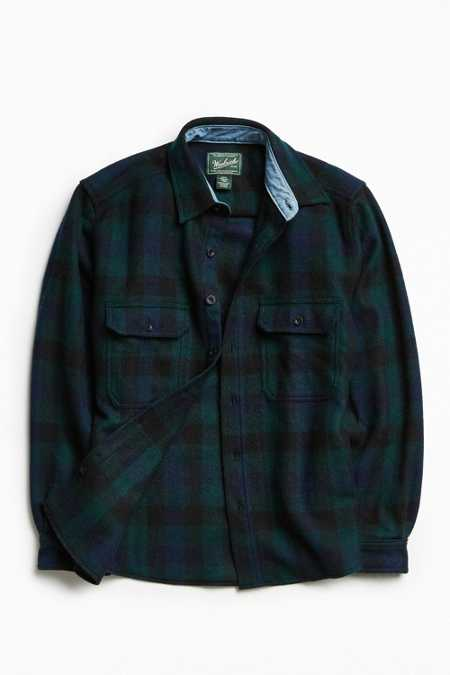 Woolrich Wool Buffalo Plaid Button-Down Shirt