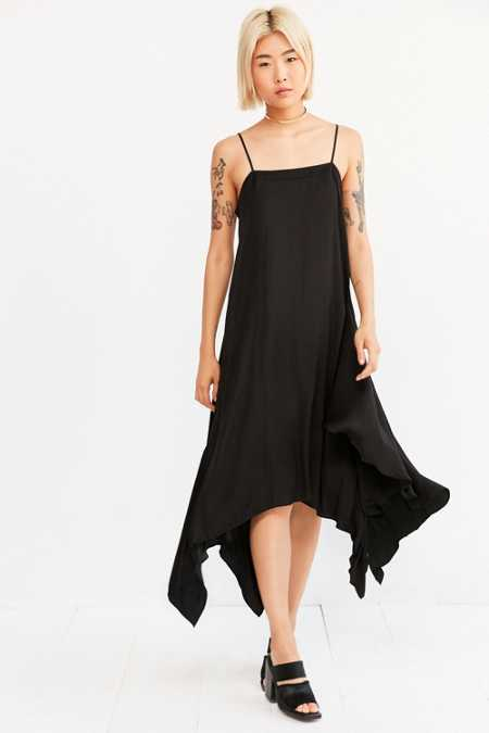 Silence + Noise Follow Me Shark Bite Slip Dress