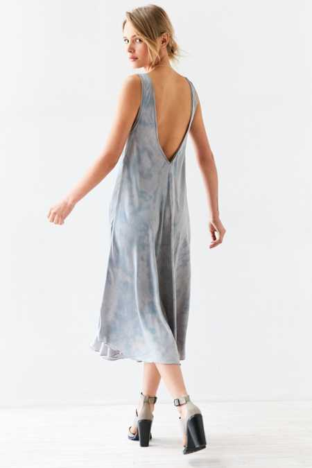 Silence + Noise Cassidy Dye-Tech Midi Slip Dress