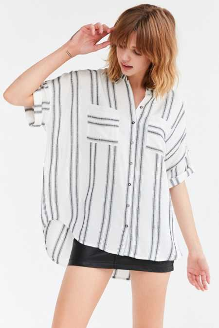 Silence + Noise Joey Striped Button-Down Shirt