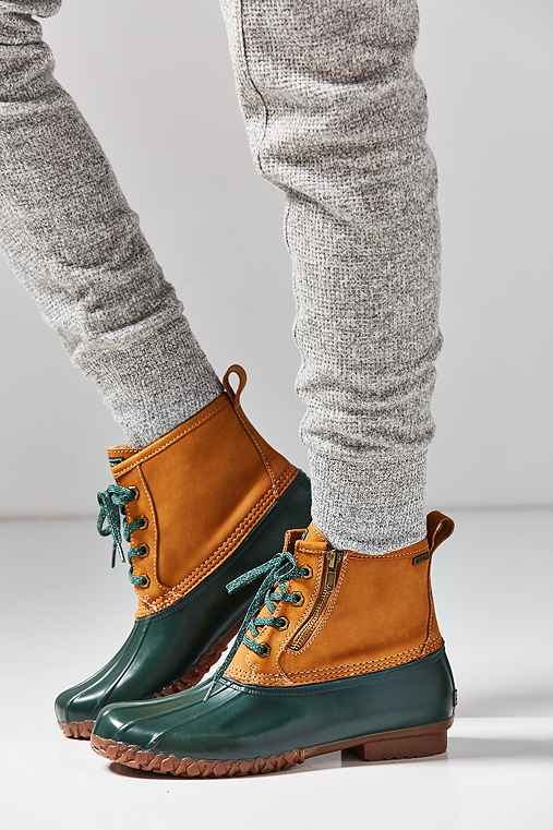Bass Danielle Duck Boot,GREEN,8