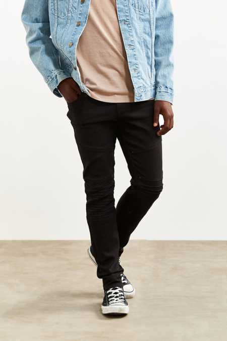 Tripp NYC Pleated Knee Moto Skinny Jean