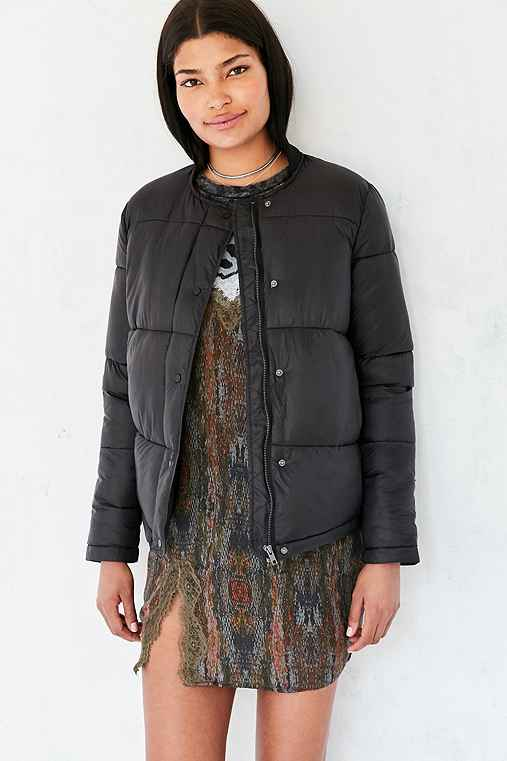 Silence + Noise Storm Puffer Jacket,BLACK,M