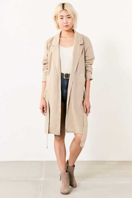 BDG Marci Canvas Trench Coat
