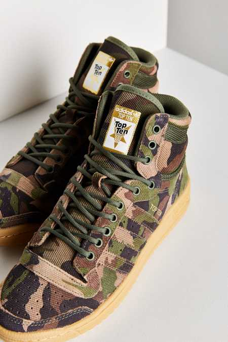 adidas Originals Camo Top Ten Hi Sneaker