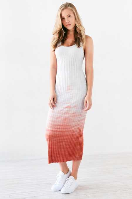 Ecote Weeping Willow Dip-Dye Midi Dress