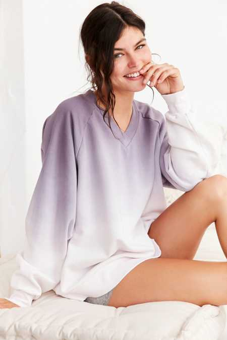 Out From Under Oversized V-Neck Pullover Sweatshirt