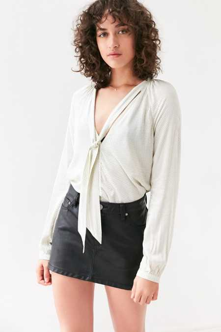 Cooperative Tie-Neck Blouse
