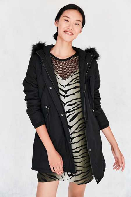 Pins And Needles Whistler Faux Fur Trim Parka