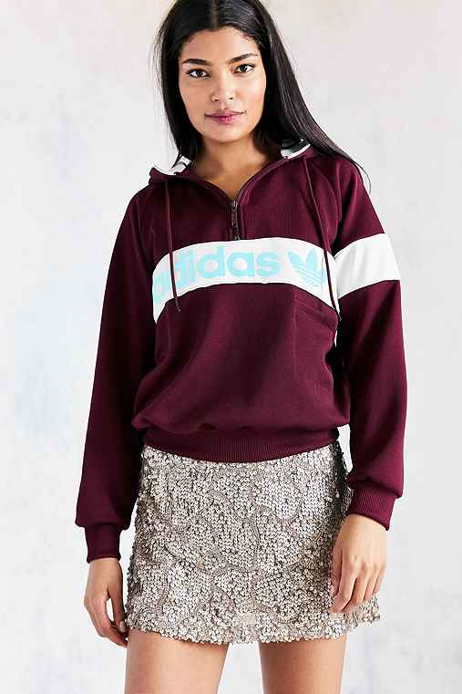 adidas Originals New York 1986 Hoodie Sweatshirt - Maroon,MAROON,M
