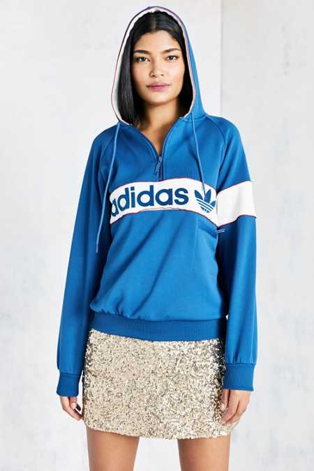 adidas Originals New York 1986 Hoodie Sweatshirt - Blue