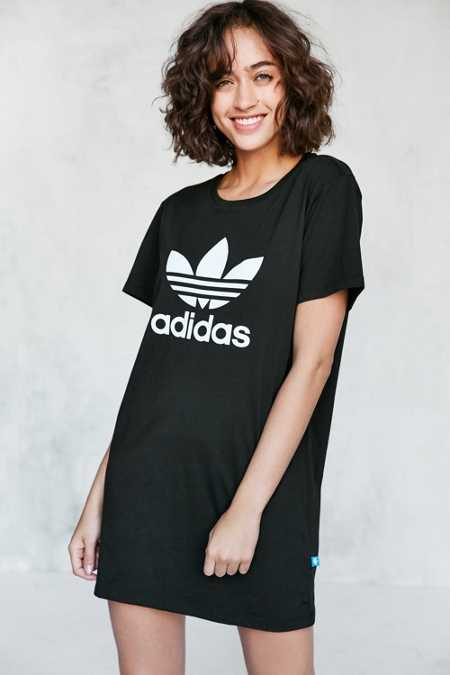 adidas Originals Trefoil Oversized T-Shirt Mini Dress