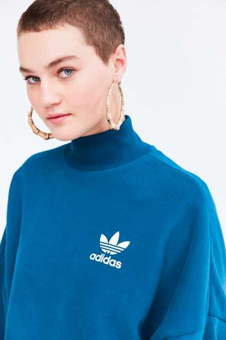 adidas Originals Tech Steel Mock Neck Pullover Sweatshirt