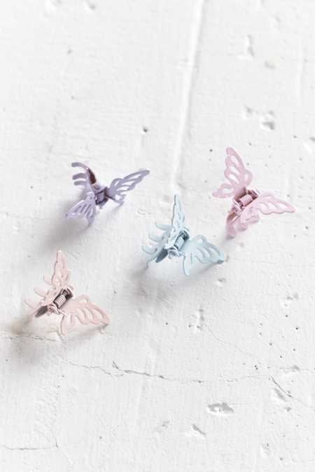 Metal Butterfly Clip Set