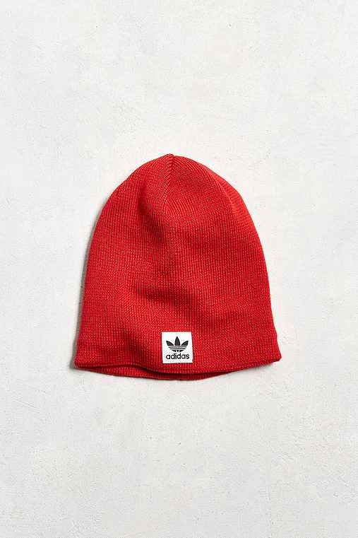 adidas Standard Knit Beanie,RED,ONE SIZE