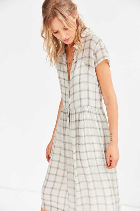 Cooperative Allie Sheer Midi Shirt Dress