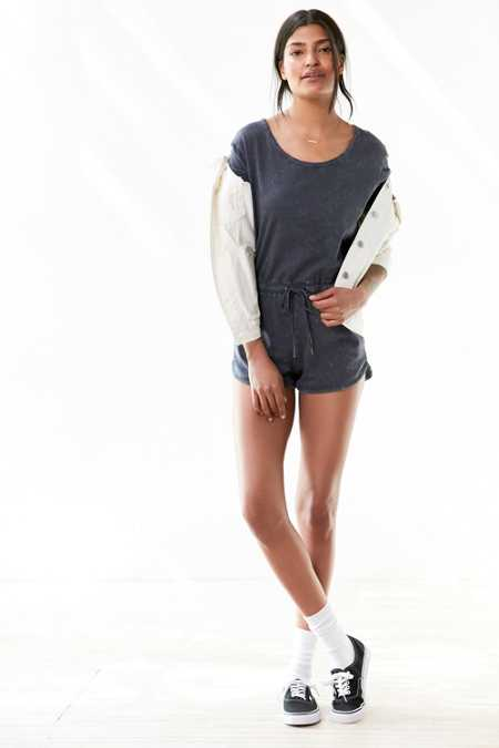 BDG Parisian Acid Wash Knit Romper