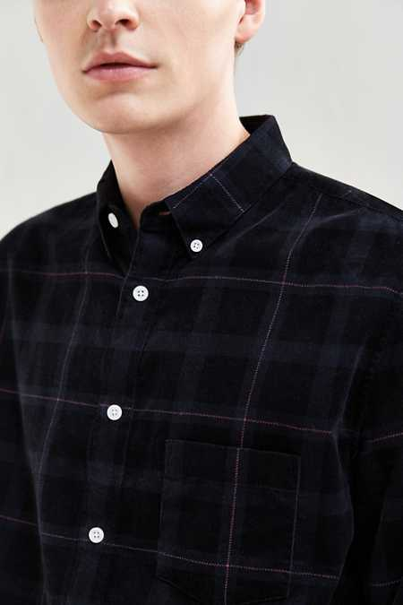 Barney Cools Plaid Corduroy Button-Down Shirt